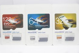 Wholesale Dhl Mobile - 2018 Top Selling factory 32GB 64GB 128GB EVO PRO PLUS microSDXC Micro SD SDHC 80MB s UHS-I Class10 Mobile Memory Card DHL shipping