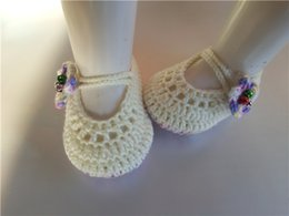 Wholesale Wholesale Exclusive Shoes - 2016 handmade crocheted baby Infants Crochet Knit shoes Socks infant Newborn exclusive oddlers Booties Soft Sole Flats 0-12M customize