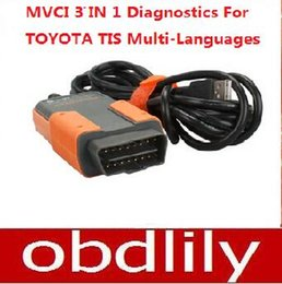 Wholesale Opel Tis - 2015 Newest MVCI 3 IN 1 V10.10.018 High Performance Factory Diagnostics Fortoyota TIS Cable Multi-Languages Free Shipping