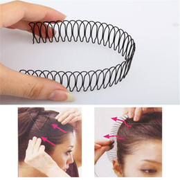 Wholesale Hair Fringe Styles - Wholesale- Professional Hair Styling Tools Roll Curve Clip Pin Invisible Bang Fringe Hair Comb Clips Black Accessories