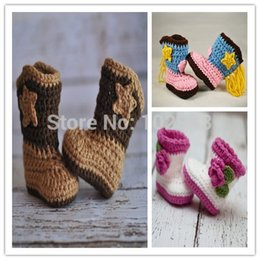 Wholesale Knitted Baby Booties Wholesale - 2015 Comfortable Hand Knitted Baby Shoes newborn crochet booties crochet shoes sole shoes handmade first walker shoes