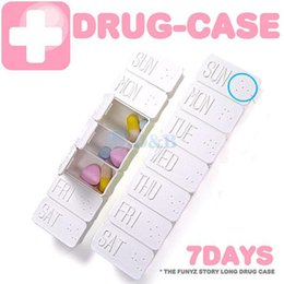 Wholesale Pill Cases Weekly - 7 Days Weekly Tablet Pill Medicine Box Holder Storage Organizer Container Case Pill Box GJ0828