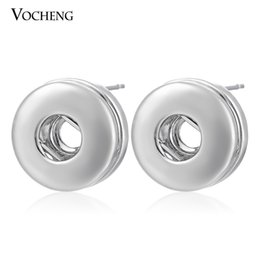 Wholesale Silver 12mm - Petite NOOSA jewelry 12mm Small Chunks Snap Button Earring DIY Noosa Jewelry(Ve-002)