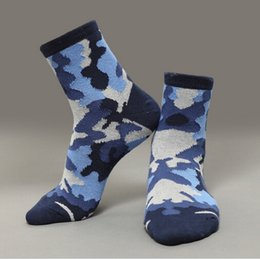Wholesale Mens Thick Warm Cotton Socks - 2016 New Mens elite socks Winter Thick Warm Terry Socks Casual Sports Camouflage Cotton Socks Spring Autumn Winter