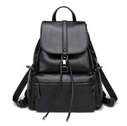 Wholesale New Korean Womens - 2017 New Backpack Womens Korean Fashion School Bag Female Simple Wild Leisure Travel Shoulder Bags