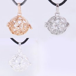 Wholesale Harmony Ball Cage - 2015 Harmony Ball Bola Pendants Necklace 3 Colors Brass Metal Cage Five Star Box Necklaces Gift Wholesale