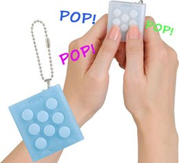 Wholesale Toy Bag Pvc - Wholesale Mugen Puchi Puchi Speaker Key chain Puti Puti bubble wrap keyring Vent Decompress Electric Press funny air pop bag speaker gadgets