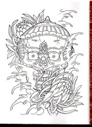 Wholesale Tattoo Flash Sketches - Wholesale-PDF Format Tattoo book traditional tattoo 73 pgs Chinese ghost fairy tale skull Tattoo Flash Tattoo Designs Sketch Free Shipping