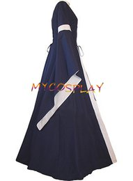 Wholesale Custom Renaissance Dresses - Wholesale-2015 Custom Made Navy Blue Medieval Renaissance Victorian Dress Costume For Gothic And Fantasy Parties
