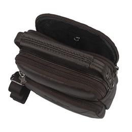 Wholesale leather belt bag for men - Wholesale-sacoche homme 100% Genuine Leather Mens Messenger Bag Small,New Brand Design Casual Male Crossbody Bag Tactical Belt Bag For Men
