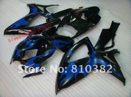 Wholesale Gsxr Plastics - ABS PLASTIC Fairing Kit for 2006 2007 GSXR 600 GSXR 750 SUZUKI GSXR600 750 06-07 BLUE BLACK GSXR600 750 06 07