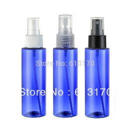 Botellas de spray de plástico azul al por mayor online-alta quanlity 100 ml botella de perfume de plástico botella de perfume del animal doméstico azul al por mayor 30 unids / lote envío gratis