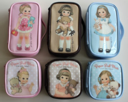 Wholesale Cosmetic Paper - Wholesale-girl small bag Afrocat doll paper doll mate waterproof cosmetic bag storage gilr Cases