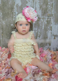 Wholesale Tutu Baby Europe - Europe Fashion Baby Girls Suspender Rompers Kids Clothing Lovely Solid Lace Romper Layered Tutu Rompers One-piece Infant Bodysuit H2718