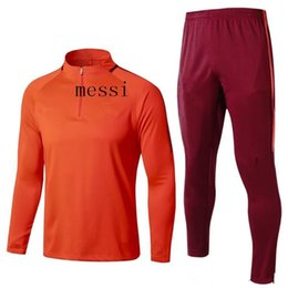 Wholesale Men S Express - best quality 2017 2018 soccer jersey jacket tracksuit 17 18 MESSI football jacket sportswear Training suit Express Free