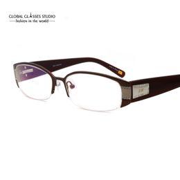 Wholesale Read Diamond - Brand Design Fashion Diamond Pink Women Eyeglasses Frames Computer Reading Spectacle Optical Frame wholesale Eyewear SM4023