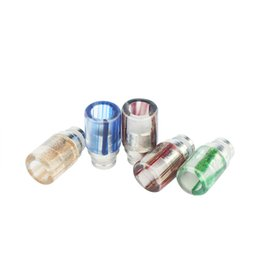 Wholesale Drip Tips Jade - Newest 510 Drip Tip E Cigarettes Colorful Glass Drip Tip Jade stone Drip Tip with Stainless Steel Wide Bore Atomizer Mouthpieces