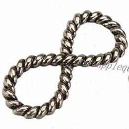 Conectores de pulseira de couro on-line-Achados jóias conector diy para pulseiras de couro assistir pulseiras de prata do vintage projeto cruz de metal new atacado navio livre 29 * 12mm 100 pcs