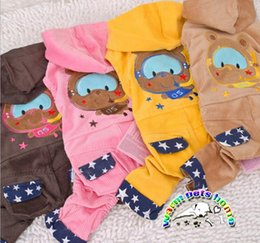 Wholesale Tinker Clothing - CA164 Dog jumpsuit spring puppy clothes for small dogs cotton tinker bear cotton clothing for yorkies cats pet products