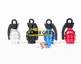 Wholesale Grenade Tire - New Freeship Hot Sale Cool Aluminium Matel Bike Air Valve Tube Cap Bicycle Tire Wheel Grenade Shape
