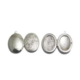 Medallones de latón online-Beadsnice flor locket en blanco foto locket charm latón oval vintage locket collar regalo hallazgos suministros envío gratis ID 3361