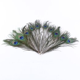 Wholesale Table Clothes For Weddings - 200 pcs Beautiful Natural Peacock Feathers Eyes For DIY Clothes Wedding Party Decoration