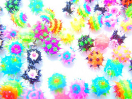 Wholesale Spike Piercing Jewelry - Free Shippment 100pcs  Lot Spike Koosh Ball Replacement For Tongue Barbells Body Piercing Jewelry