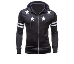 Wholesale Korean Men Hooded Sweater Jacket - Amy 2016 New Autumn And Winter Korean Slim Hooded Cardigan Jacket Stamp Trend Men's Sports Sweater