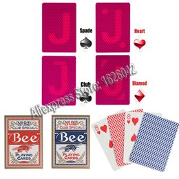 Wholesale Lens Paper Wholesale - Xf Bee No .92 Paper Marked Playing Cards Magic Invisible Cards For Uv Contact Lenses Cheat In Casino Gambling Anti Poker Cheat