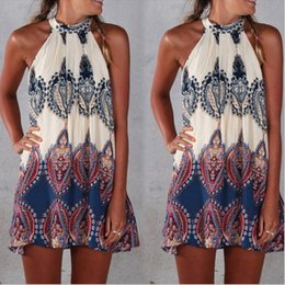 Wholesale Swimwear Mini Bikini - New 2015 Summer Womens Ethnic Floral boho dress Swimwear Beachwear Bikini Beach Wear Cover Up Kaftan Summer Boho Dress