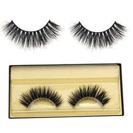Wholesale Horse Hair Extensions - Wholesale- 1 Pair Soft Natural Long Mink Hand Made False Eyelashes Thick Curly Horse Hair Eye Lashes Extension Tools