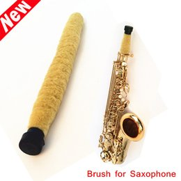 Wholesale Pad Saxophone - Saxophone Accessories Alto Saxophone Soft Cleaning Brush Cleaner Pad Saver Moisture Remover