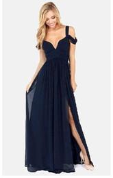 Wholesale Greek Style Long Dresses - New Fashion Women's women dress Greek style Long Section Elegant Chiffon Folds Deep V-neck Luxury Sexy Maxi Dress