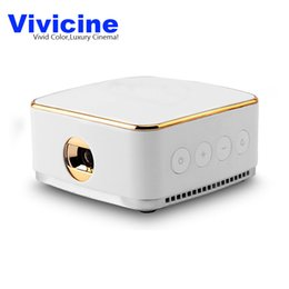 Wholesale beamer wifi android - Wholesale- Vivicine New 50 ANSI Lumens Android 5.1 Wifi Mini LED Projector , Miracast Airplay DLNA Handheld Mobile Proyector Beamer