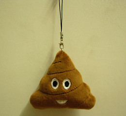 Wholesale Toy Shit - New emoji Cute Shits Poop Key Chains Small pendant Stuffed Plush doll toy for Mobile bag pendant