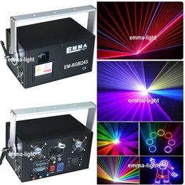 Wholesale Ilda Rgb - Wholesale- 2000MW RGB Laser light disco ilda DMX512 chrismas Laser Light music show projector