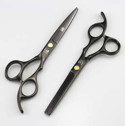 Wholesale Kasho Hairdressing Shears - 705# Black 6'' High Quality Professional Kasho Hair Cutting Scissors and Hair Thinning Shears,JP440C SS Barber and Home Hairdressing Razor