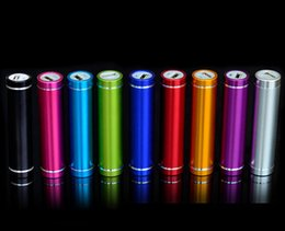 Wholesale External Backup Tablet - 10pcs lot colorfully Metal Round Mini Power bank 2600mAh External Backup Battery portable charger for Cell Phone Tablet