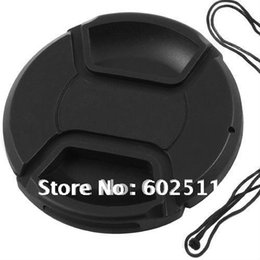 Wholesale Mm Covers - wholesale 77mm center pinch Snap-on cap cover for Canon Nikon 77 mm Lens