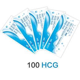 Wholesale fda pregnancy - LOVEXOK Woman Laday 10 mIU Pregnancy Test Strips 100 PCS FDA and CE Certificate Shipping Free