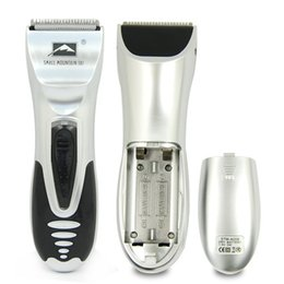 Wholesale Travel Hair Trimmer - Wholesale-1set Silver Hair Clipper Men Electric Body Groomer Hair Removal Shaver Beard Trimmer Razor for Travel YKS