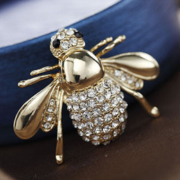 Wholesale Beetle Wings - Burnished Silver and Crystal Bee Brooch   Crystal Insect Brooch Wings Housefly Bee Bug Beetle Pin Brooch