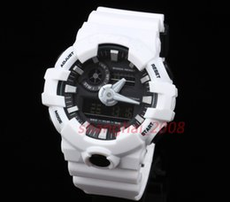 Wholesale Luxury G Shock - Top quality New Original color GA700 Chronograph Watch Auto light Waterproof G Watch Glasses Sport men's watch Original box