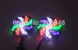 grilles de phare Promotion 5pcs DC12V multicolores LED moto flash lights pour la forme moulin à vent de décoration