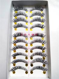 Wholesale Eyelashes Tail - Wholesale-100 Pair Lot Thick False Eyelashes Mink Eyelash Lashes Voluminous Makeup Tail Winged