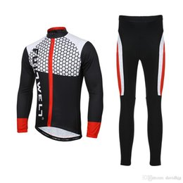 Wholesale Cycle Clothing Long Sleeve Bib - Outdoor Men Sport Cycling Clothing Set Spring Autumn Road Bicycle Bike Riding Long Sleeve Jersey + Padded Bib Pants Breathable