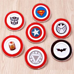 Wholesale Apple Batman - Wireless Charger Charging Pad Cartoon Batman Hello Kitty Captain America Iron Man Qi for Samsung Galaxy S6 S7 Edge Note 5 s8 Plus