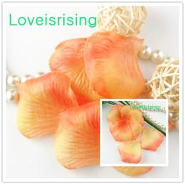 Alaranjado pétalas flor casamento on-line-Frete Grátis - 10 packs (1440 pcs) Laranja Não-Tecido Tecido Artificial Rose Flor Pétala Para O Partido Do Casamento Favor Decoração