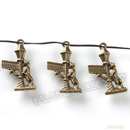 Wholesale Signs Bus - 120pcs lot Sign Of Bus Station Charms Antique Bronze Alloy Pendants Jewelry Findings Fit Necklace Making 26*17*2mm 141011