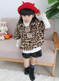Wholesale Baby Winter Cape - baby girls christmas shawl kids autumn winter wear capes childrens animal print coats girl red poncho kids leopard clothes wholesale outwear